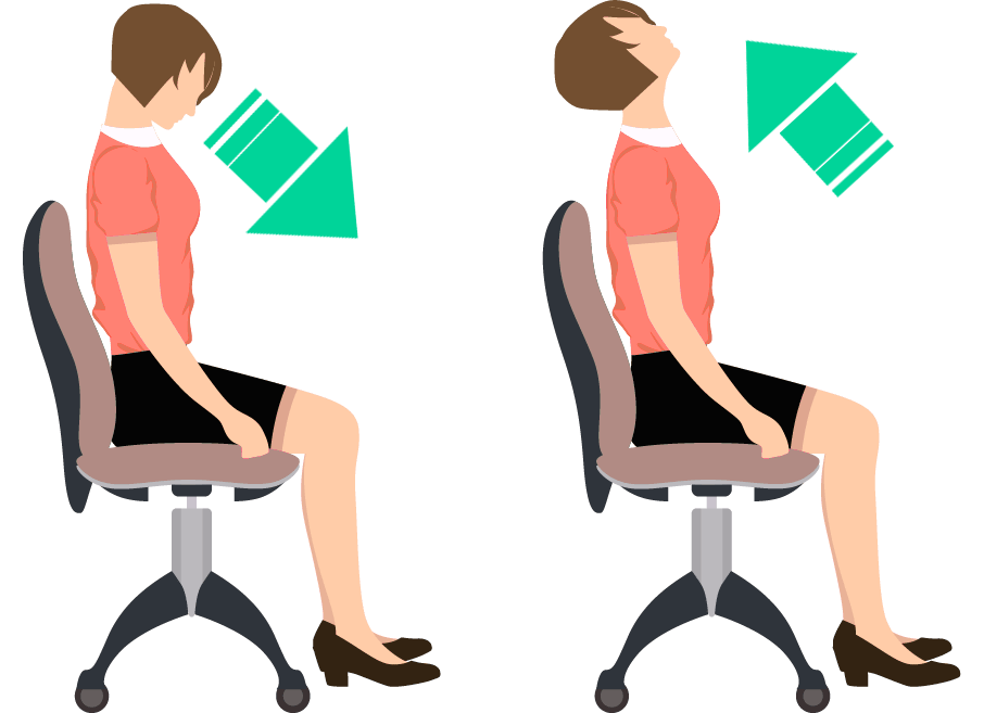 Sitting exercise for improving neck mobility.