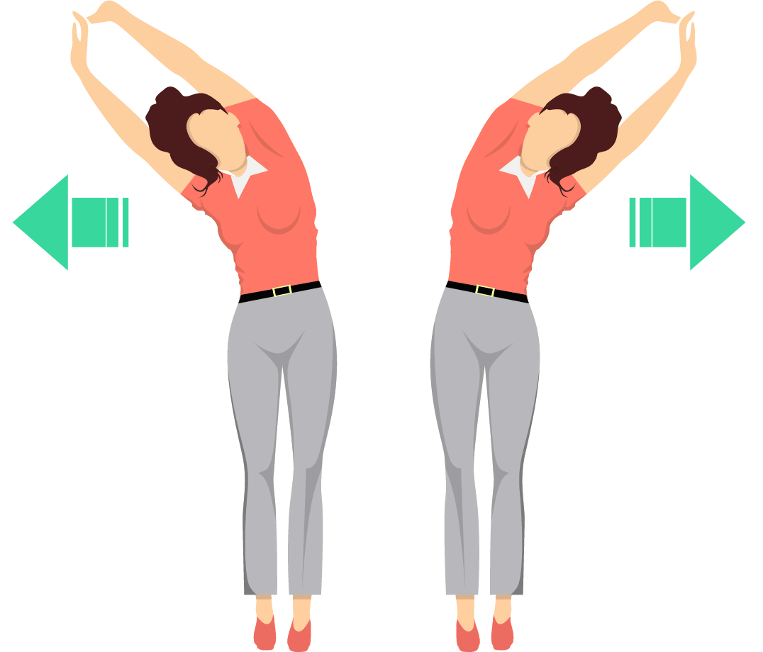 Standing upper side stretch exercise.